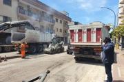Lavori in via Lago d'Arvo, Melucci: «Grazie alla pianificazione Taranto sta cambiando»